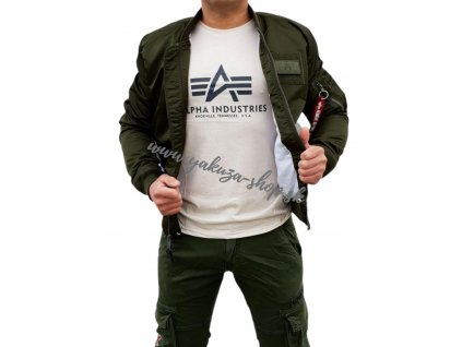 Alpha Industries MA 1 TT Custom bunda pánska dark green