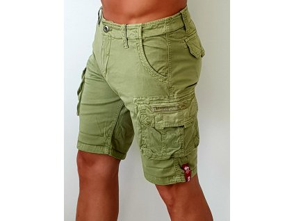 Alpha Industries Crew Short Light Olive pánske šortky