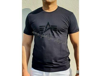 Alpha Industries VINYL LOGO T rep blue tričko pánske E