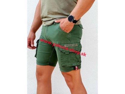 Alpha Industries Crew Short Vintage Green pánske šortky