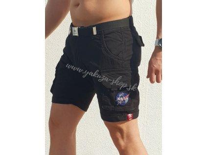 Alpha Industries NASA Short black pánske šortky