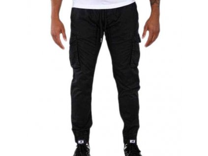 Alpha Industries COTTON TWILL JOGGER pánske nohavice black