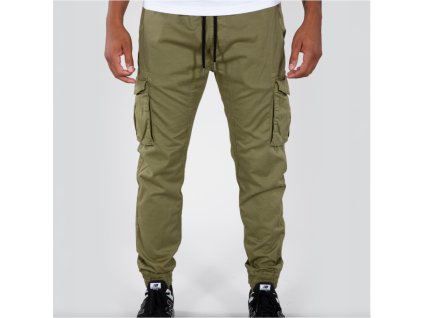 Alpha Industries COTTON TWILL JOGGER pánske nohavice olive