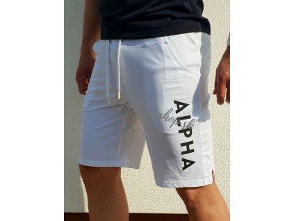 Alpha Industries šortky pánske JERSEY SHORT White