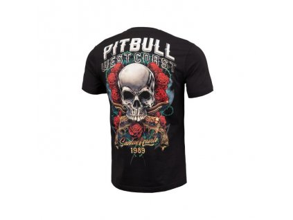 PitBull West Coast tričko pánske SANTA MUERTE black