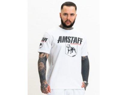 Amstaff tričko BANOR white