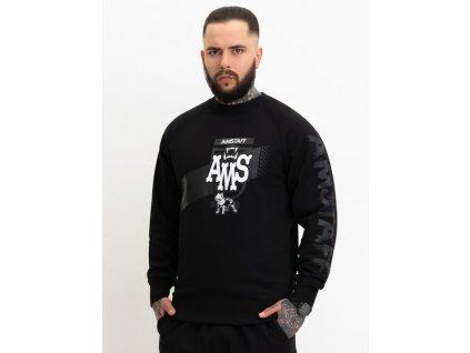 Amstaff mikina bez kapucne DORANIS Sweater Black