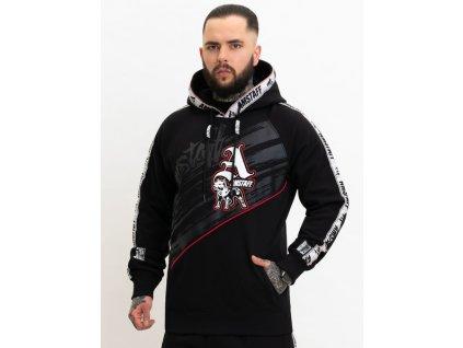 Amstaf mikina na zips KRONYSOS black