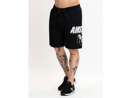 Amstaff BANOR teplákové šortky black