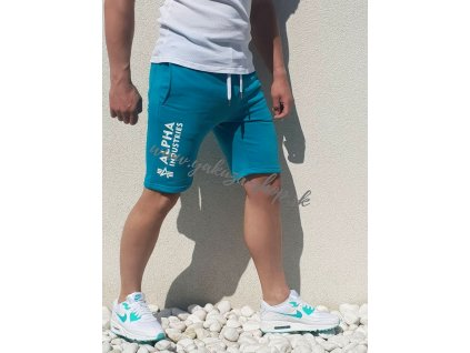 Alpha Industries šortky pánske BASIC SHORT AI RBF Blue Lagoon