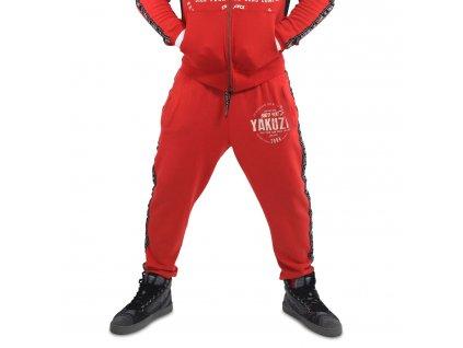 Yakuza BAD SIDE tepláky pánske job 14030 ribbon red