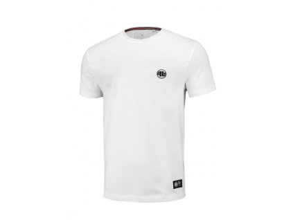 PitBull West Coast SLIM FIT SMALL LOGO WHITE tričko pánske