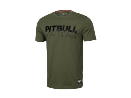 PitBull West Coast tričko pánske SLIM FIT TNT olive