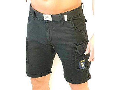 Alpha Industries Crew Short Patch Black pánske šortky