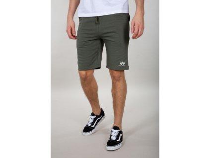 Alpha Industries Basic Short SL dark olive pánske šortky