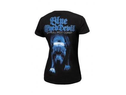 PitBull West Coast dámske tričko BLUE EYED DEVIL 21 black