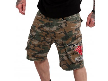 Yakuza cargo šortky 893 COLLEGE CARGO CSB 18023 camouflage
