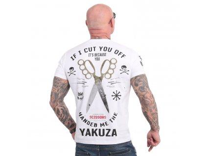 Yakuza SCISSORS tričko pánske TSB 18037 white