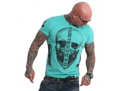 Yakuza GAUCHO tričko pánske TSB 18047 turquoise