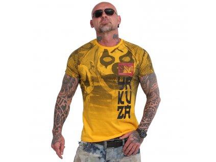 Yakuza PSYCHO CLOWN tričko pánske TSB 18052 gold fusion