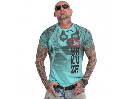Yakuza PSYCHO CLOWN tričko pánske TSB 18052 turquoise