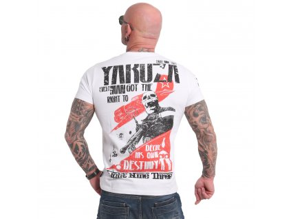 Yakuza RIGHT TO DECIDE tričko pánske TSB 18036 white