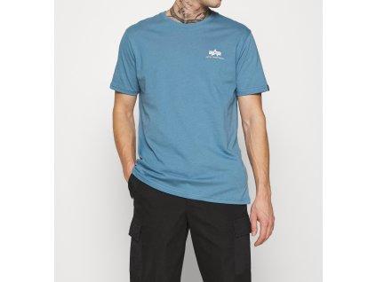 Alpha Industries Basic T Small logo Airforce Blue tričko pánske