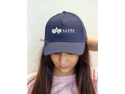 Alpha Industries ALPHA Cap šiltovka rep blue e
