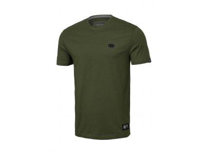 PitBull West Coast SMALL LOGO olive tričko pánske 21101136000