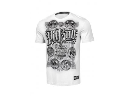 PitBull West Coast MULTISPORT white tričko pánske