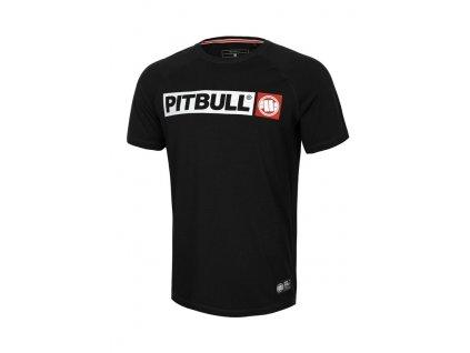 PitBull West Coast HILLTOP SPANDEX black tričko pánske
