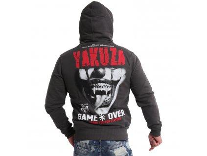 Yakuza GAME OVER mikina na zips HZB 16087 black ink s tvárovou maskou