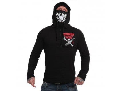 Yakuza tričko pánske s dlhým rukávom NO MERCI NO REGRET Ninja LSB 17092 black