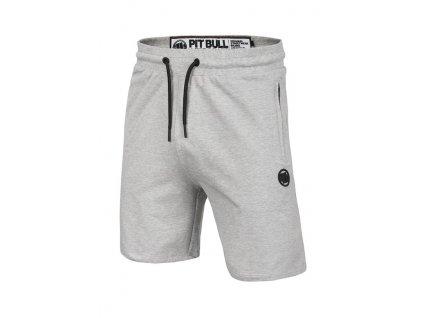 Pitbull West Coast šortky FRENCH TERRY Small Logo grey melange