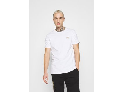 Alpha Industries Basic T Small logo white yellow gold tričko pánske a