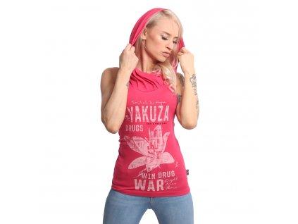 Yakuza DRUG WAR dámske tielko s kapucňou GSB 18140 azalea