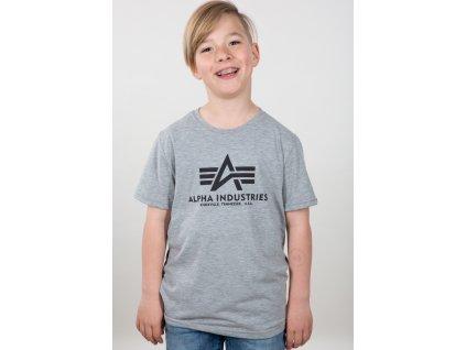 Alpha Industries Basic T Kids detské tričko grey