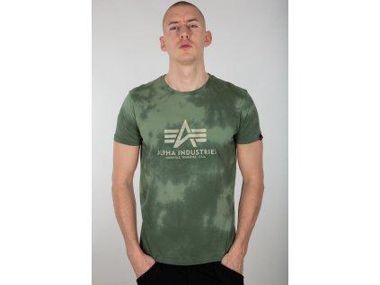 Alpha Industries Basic T Batik tričko pánske dark olive