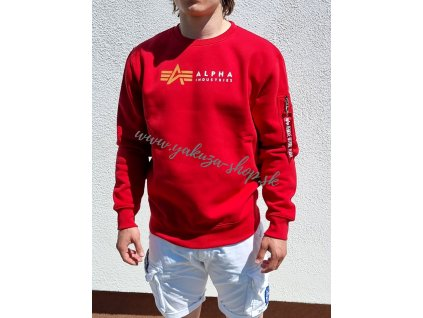 Alpha Industries LABEL Sweater speed red