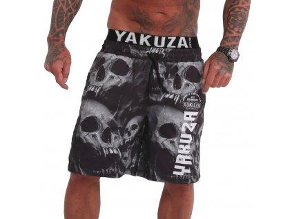 Yakuza plavkové šortky MUERTE SKULL BSB 180104 black