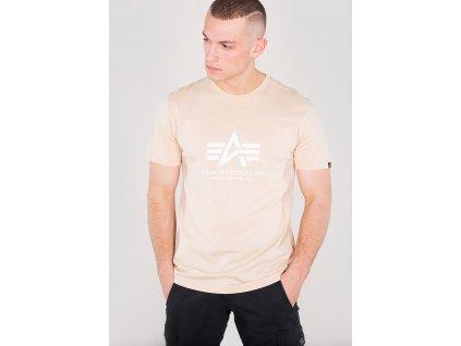 Alpha Industries Basic T-Shirt Caramel tričko pánske