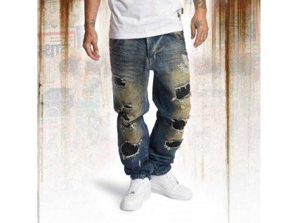 Yakuza jeansy pánske Skeleton loose JEB 10065 bronze distressed