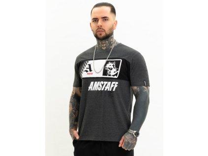 Amstaff tričko MALEX grey