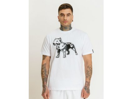 Amstaff tričko LOGO 2.0 white