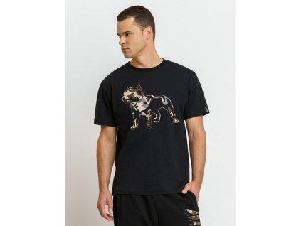 Amstaff tričko LOGO 2.0 black camouflage