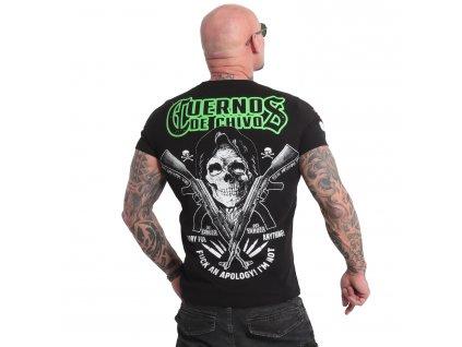 Yakuza CUERNOS DE CHIVO tričko pánske TSB 18049 black