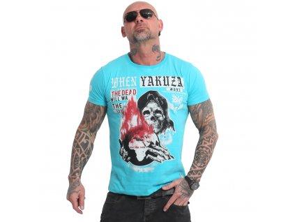 Yakuza EARTH tričko pánske TSB 18051 blue atol