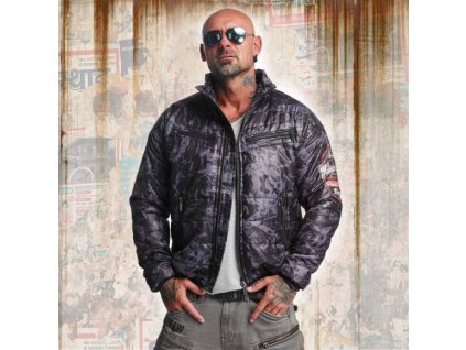 Yakuza bunda TRASHED QUILTED JACKET JB 10041 black/grey