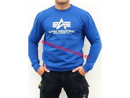 Alpha Industries mikina Basic Sweater nasa blue
