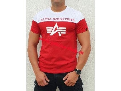 Alpha Industries CB T speed red tričko pánske